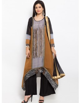 Casual Wear Readymade Brown Salwar Suit  - 20940