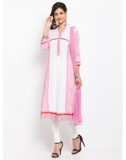 Casual Wear Readymade Pink Salwar Suit  - 20944