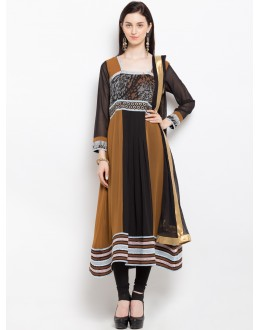 Festival Wear Readymade Brown Salwar Suit  - 20945