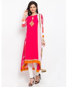 Wedding Wear Readymade Pink Salwar Suit  - 20947