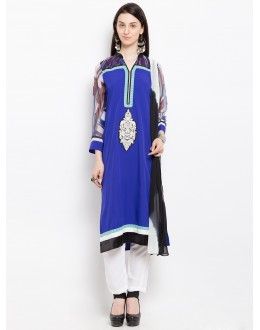 Traditional Wear Readymade Blue Salwar Suit  - 20952
