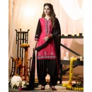 Wedding Wear Pink Cotton Salwar Suit - 21286