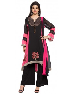 Ethnic Wear Readymade Black Faux Georgette Salwar Suit  - 21358