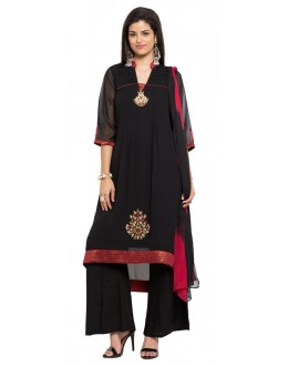Festival Wear Readymade Black Faux Georgette Salwar Suit  - 21359