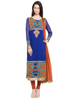 Ethnic Wear Readymade Blue Faux Georgette Salwar Suit  - 21364