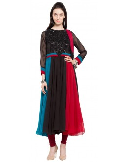 Festival Wear Readymade Multi Colour Faux Georgette Salwar Suit  - 21461
