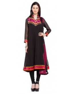 Party Wear Readymade Black Faux Georgette Salwar Suit  - 21467