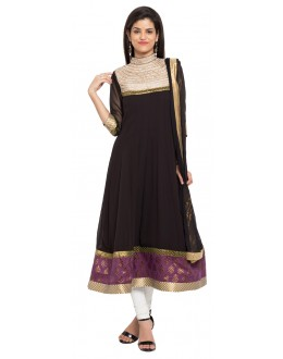 Party Wear Readymade Black Faux Georgette Salwar Suit  - 21472