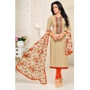 Casual Wear Beige Cotton Salwar Suit - 21651