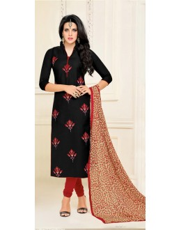 Wedding Wear Black Chanderi Salwar Suit - 21652
