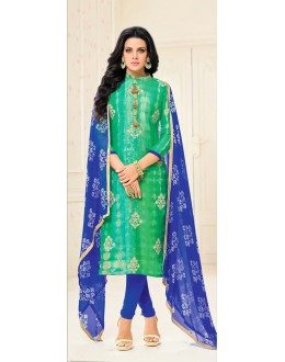 Ethnic Wear Blue Poly Silk Salwar Suit - 21662