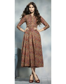 Wedding Wear Readymade Multicolour Cotton Kurti  - 21918
