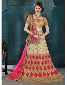 Festival Wear Off White Net Lehenga Choli - 21937