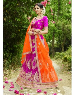 Festival Wear Pink & Orange Lehenga Choli- 22680
