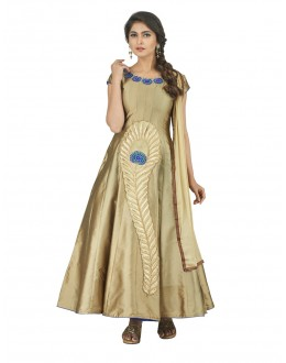 Festive Wear Beige Anarkali Suit - 22808