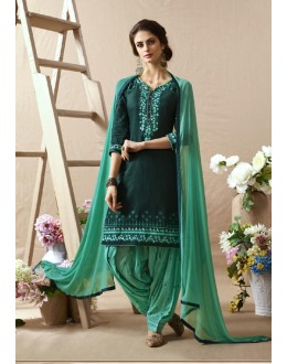 Festive Wear Lavish Green  Patiala Suit - 22815