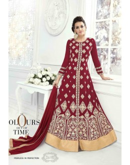 Festive Wear Marron Anarkali Suit-22823