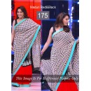 Bollywood Replica - Madhuri dixit Black and Red Color Bollywood Style Saree- 175 (CM-Vol-3)