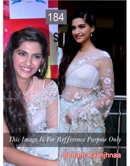Bollywood Replica - Sonam Kapoor White Color Bollywood Style Saree- 184 (CM-Vol-3)