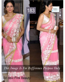 Bollywood Replica - Sridevi Pink Color Bollywood Style Saree- 183 (CM-Vol-3)