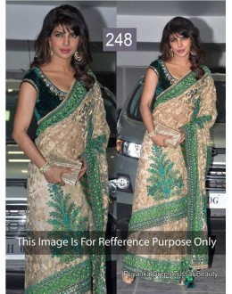 Bollywood Replica - Priyanka chopra Green & Beige Color Bollywood Style Saree- 248 (CM-Vol-5)