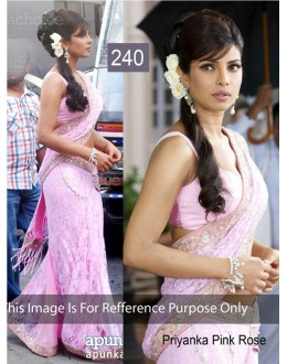 Bollywood Replica - Priyanka chopra Pink Color Bollywood Style Saree- 240 (CM-Vol-5)