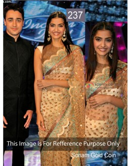 Bollywood Replica - Sonam kapoor Gold Color Bollywood Style Saree- 237 (CM-Vol-5)