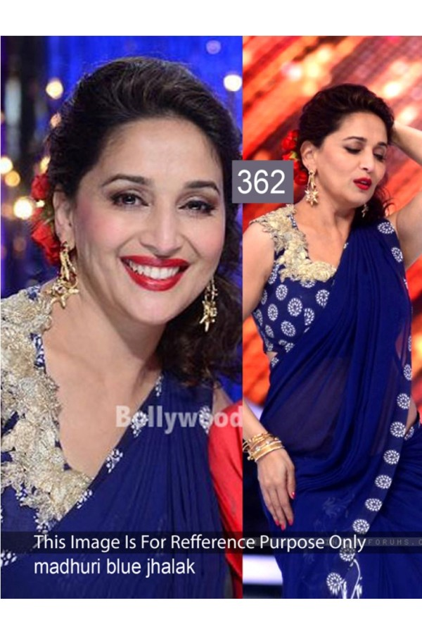Bollywood Replica - Madhuri dixit Blue Color Bollywood Style Saree- 362 (CM-Vol-11)
