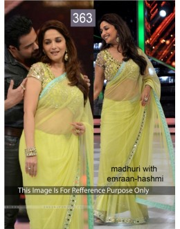 Bollywood Replica - Madhuri dixit Lemon Color Bollywood Style Saree- 363 (CM-Vol-11)