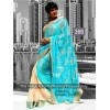 Bollywood Replica - Mandira bedi Blue and Beige Color Bollywood Style Saree- 366 (CM-Vol-11)