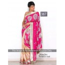 Bollywood Replica - Mandira bedi Pink and Beige Color Bollywood Style Saree- 367 (CM-Vol-11)