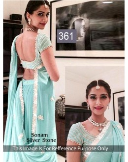 Bollywood Replica - Sonam kapoor Turquoise Color Bollywood Style Saree- 361 (CM-Vol-11)