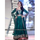 Bollywood Replica - Preity Zinta Beautiful In Long Dark Green Indo-Western Anarkali Suit - 1021 (CM-Vol-1)