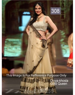 Bollywood Replica - Divya Gold Color Bollywood Style Lehenga - 308 (CM-Vol-8)