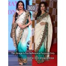Bollywood Replica - Sophie and Bhagyashree Off-white and Blue Bollywood Style Saree- 303 (CM-Vol-8)