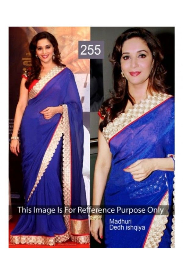 Bollywood Replica - Madhuri Dixit Beautiful In Blue Saree - 255 (CM-Vol-6)