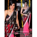 Bollywood Replica - Mandira bedi Beautiful In Black and Pink Saree- 263 (CM-Vol-6)