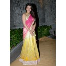 Bollywood Replica - Kajal Aggarwal Yellow And Pink Lehenga Saree - 322 (IB-501)