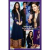 Bollywood Replica - Katrina Kaif Sa Re Ga Ma Pa Blue Gown - DF-41 (IB-445)