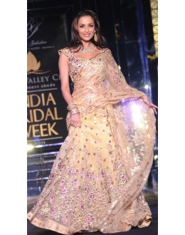 Bollywood Replica - Malaika Arora Khan In Cream Saree At India Bridal Week  - 329 (IB-501)