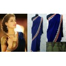 Bollywood Replica - Nargis Fakhri Blue Saree At Indian Bridal Jewelry By D'damas Jewellery - 326 (IB-501)