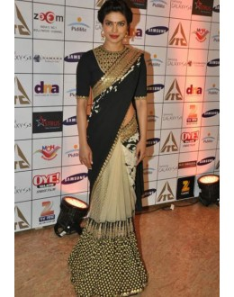 Bollywood Replica - Priyanka Chopra Sizzles In A Black & Gold Sabyasachi Saree - TM-70 ( TM-6 )