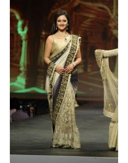 Bollywood Replica - Rashmi Desai Half Cream Saree At Walk The Ramp - 321 (IB-501)