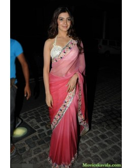 Bollywood Replica - Samantha In Beautiful Pink Designer Shimmer Saree - 316 (IB-501)
