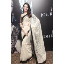 Bollywood Replica - Tamanna Bhatia In Cream And Black Saree - 323 (IB-501)