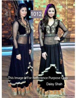 Bollywood Replica - Daisy Shah Black Anarkali In Set on Dance India Dance - OM-1012
