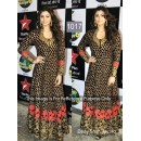 Bollywood Replica - Daisy Shah In Black Beautiful Anarkali At Sets Of Nach Baliye - OM-1017