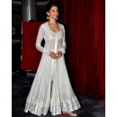 Bollywood Replica - Deepika Padukone In White Anarkali At The Launch Chaennai Express - 1002