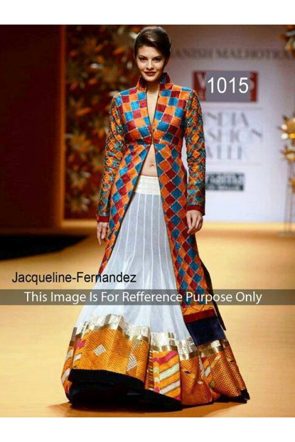 Bollywood Replica - Jacqueline Fernandes In jacket Style Anarkali - OM-1015