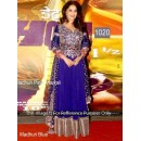 Bollywood Replica - Madhuri Dixit wore an indigo blue colored anarkali at the premiere of Dedh Ishqiya- OM-1020